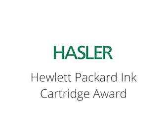 Hasler - Hewlett Packard Ink Cartridge Award