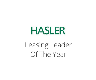 Hasler - Leasing Leader of the Year