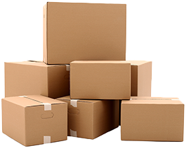 Shipping solutions - a stack of boxes