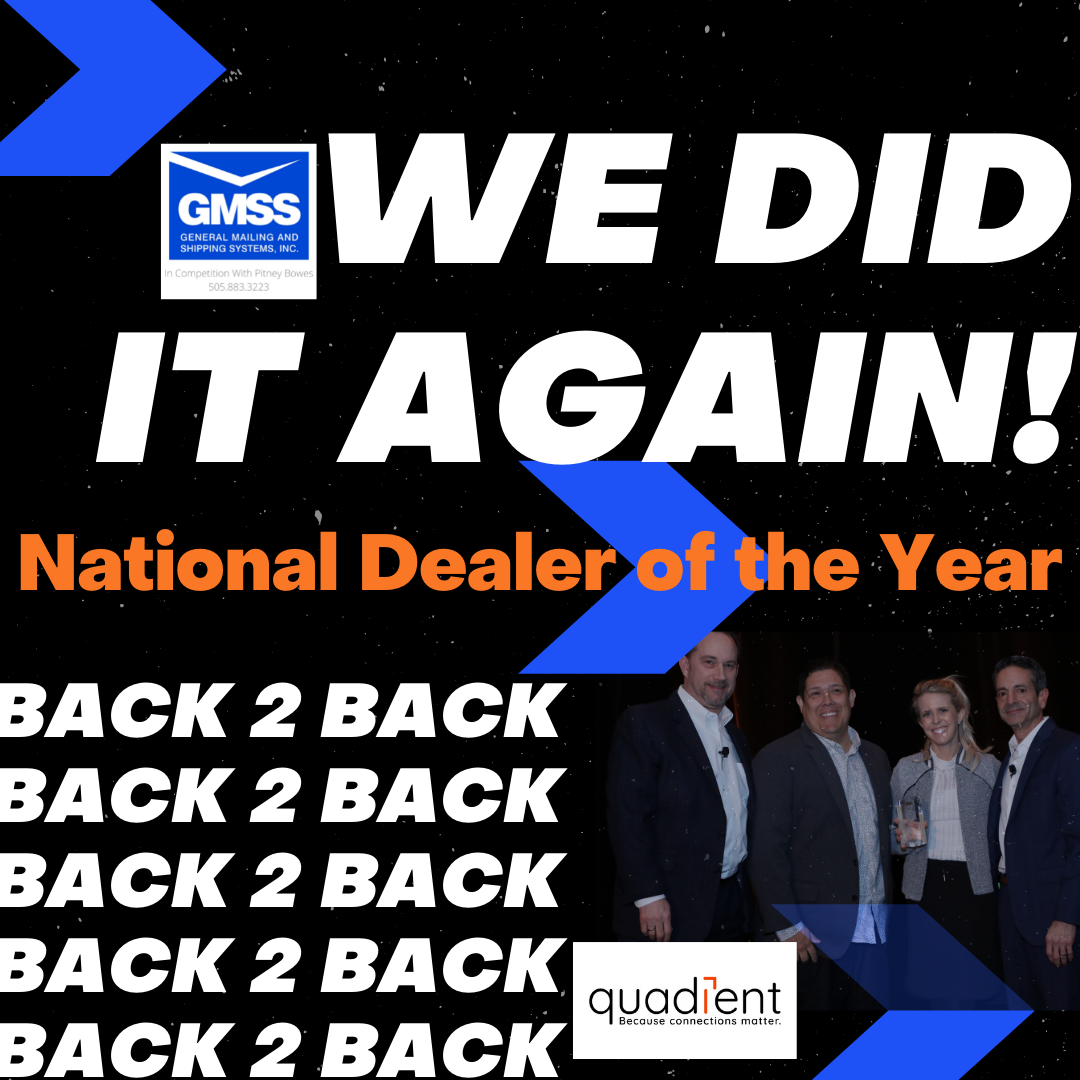 Quadient 2019 National Dealer of the Year Award